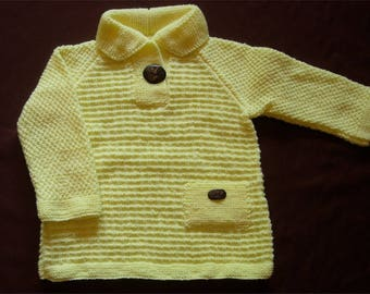 Sweater yellow straw - 24 months