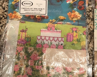 Vintage Wrapping Paper Gift Wrap 30+ packs Tons of patterns holiday Crafting