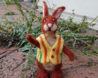 Rabbit - needle felted