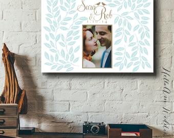 Wedding guest book alternative - Wedding guest book canvas - Guest book alternative - Wedding photo canvas - spring wedding - Bridal gift
