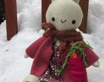 100% merino wool bunny friend