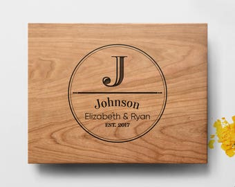 Custom Cutting Board, personalized cutting Board ,Wedding Monogram, Kitchen Sign, Engraved Cutting Board, Personalized Wedding Gift