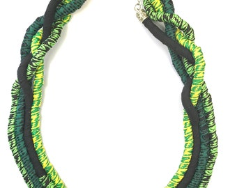 Statement ethnic necklace, African feel, Layered rope necklace, Bold jewellery, Unique womens accessories