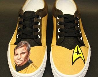 STAR TREK Custom Painted (Airbrush) Shoes - Captain Kirk (William Shatner)