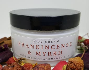 Frankincense and Myrrh -  Moisturizing Body Cream - Frankincense and Myrrh Lotion