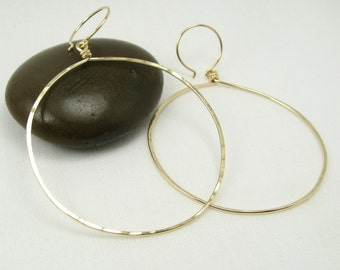 HALO HOOP EARRINGS, hammered gold hoops front hoop earrings modern earrings large hoop