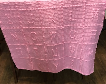 Made to Order. Baby Blanket - Alphabet
