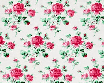 78121 -  Verna Mosquera Peppermint Rose peppermint rose in dove color- 1/2 yard
