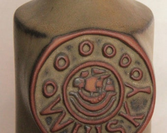 Tremar Pottery of Cornwall - Retro Stoneware Whisky Decanter