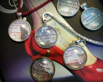 The Lunar Chronicles inspired quote pendants, necklaces, and bookmarks