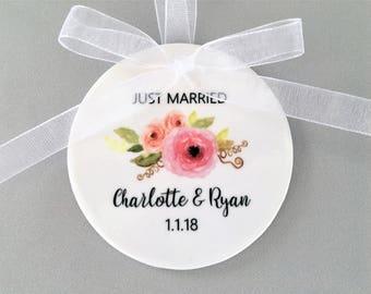 Personalized Wedding Ornament,Wedding Ornaments, Wedding Ornament, Wedding Gifts, Wedding Gift, Just Married Ornament, Just Married