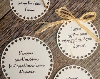 Set of 10 message or quote for seeds - Wedding guest gift bags