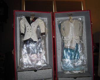 1980's Danbury Mint Princess Diana Royal Wardrobe Collection 12 Outfits , with case