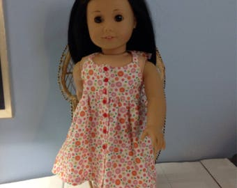"""18"""" American girl halter dress with FREE shipping."""