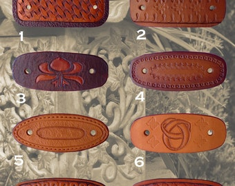 Leather Hair Barrettes