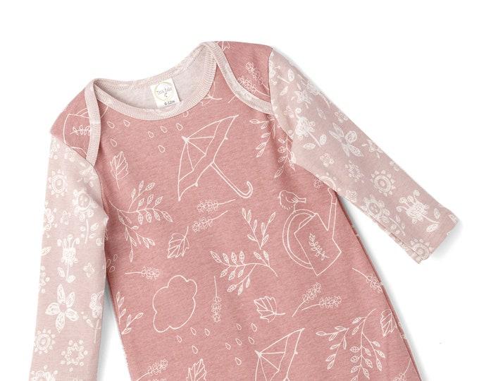Baby Pink Onesie Outfit, Newborn Baby Girl Outfit, Baby girl Clothes, Baby Girl Romper, Infant Girl Baby Romper, Bird Onesie, Tesa Babe