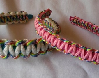 Girls/Ladies  Paracord Headbands, 2 widths