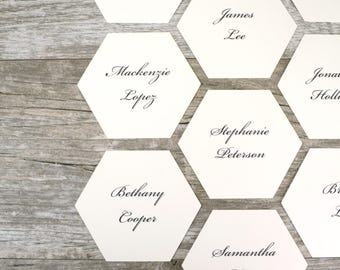 Geometric Hexagon Place Cards Set of 24