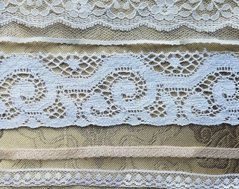Antique Vtg Lace Trim Edging Insert Dainty Sewing Art Doll Clothes Lot A36