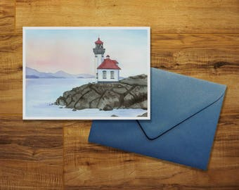 San Juan Island's Lighthouse Greeting Card