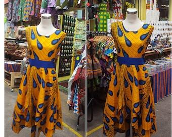 African Fabrics Dress - Block Wax