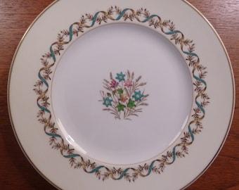 """Set of 4 vintage Wedgwood bone china SANDRINGHAM BLUE 9"""" luncheon plates"""