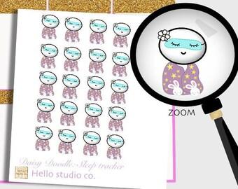 Sleep tracker planner stickers Emoti Stickers Doodle stickers