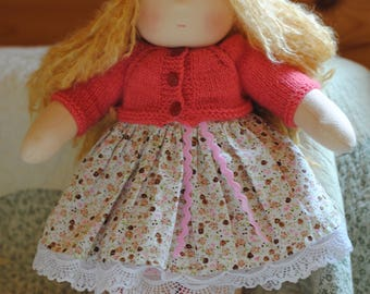 "14 ""(36 cm) Waldorf doll. Made to order. Textile Dolls-Handmade dolls-soft dolls-Waldorf Toys"