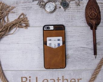 iPhone 8 Plus Case, iPhone 8 Plus Card Case, iPhone 8 Plus Leather Case, iPhone 8 Plus Card Holder Case, Mother Gift, Woman Gift, Men Gift