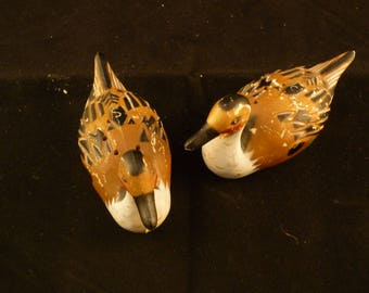 Vintage Brown Duck Salt and Pepper Shakers