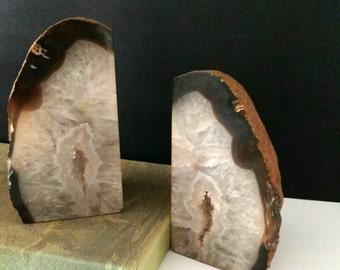 Geode Agate Rock Modern Bookends