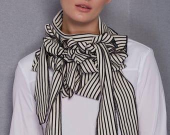 Francoise - Luxury Wool Fine Knit Scarf