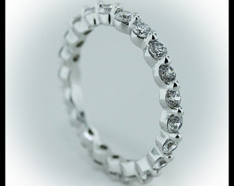 One Prong Diamond Eternity Band 1.05 carats