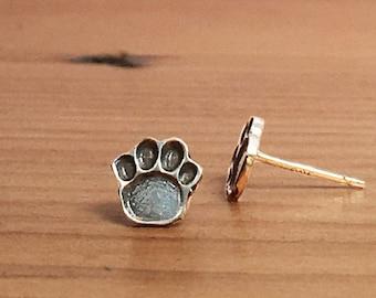 Dog Paw Earrings, Pet Lover Gift, Animal Lover, Paw Print Earrings, Paw Print Studs, Paw Stud Earrings, Paw Earrings, Dog Lover Gift