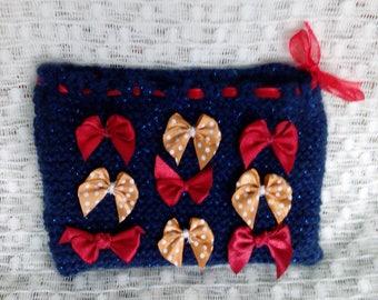 Hand Knitted Glitter Purse