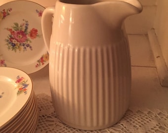 Vintage typhoonware cream color milk pitcher makes a cute vase !