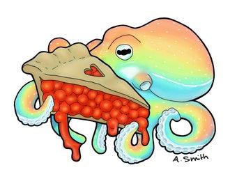 Octopie Sticker