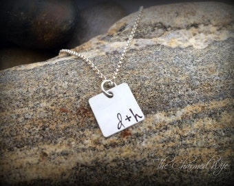 Couples Initial Necklace - Anniversary GIft Ideas - Personalized - Personalized Necklace - Gift Ideas for Girlfriend - Personalized