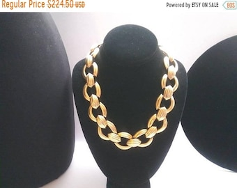 ON SALE Vintage Valentino Necklace Designer Signed Couture Collectible Retro Costume Jewelry High End Statement Runway Accessories