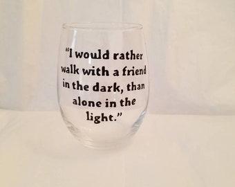 15 oz Stemless wine glass