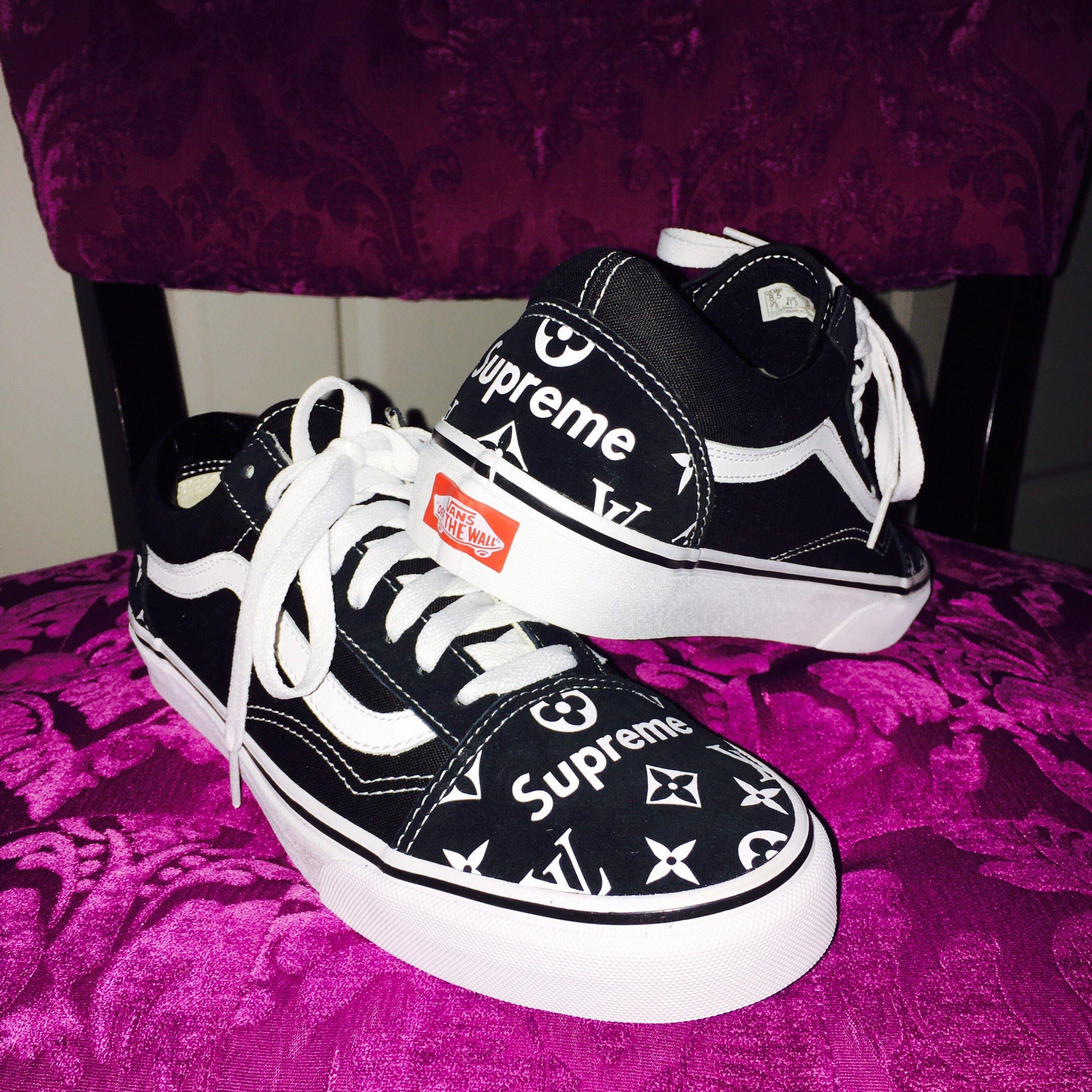 Supreme Vans Black Shoes