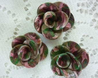 CREATING HARMONY FIMO FLOWERS PINK AND KHAKI