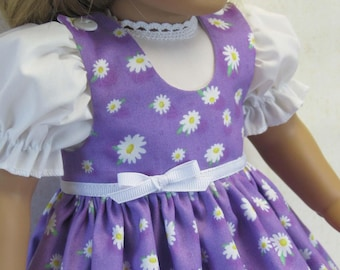 Lilac Daisy Jumper and Blouse for American Girl Doll