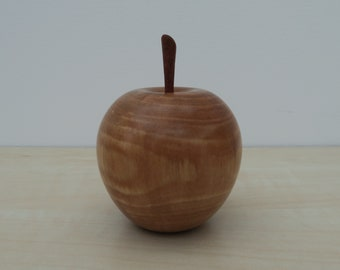 Wooden Apple made from Cherry