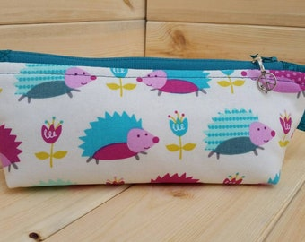 Hedgehogs (Taller) Skinny Notions Pouch dpn Case Bag Handmade