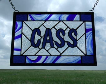 Stained Glass Name Signs by Cityfreeglass