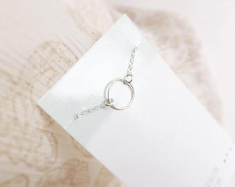 Simple Life Small (bracelet) - Dainty sterling silver circle bracelet
