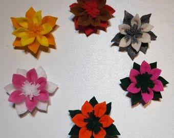 Felt Flower Decorations