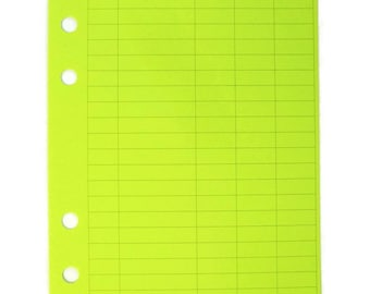 Finance Planner Pages, Horizontal, 54 Sheets