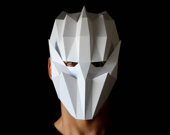 Geometric Mask - Full face mask you can make with this template